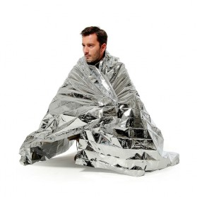 TaffSPORT Selimut Darurat Emergency Blanket Thermal Insulation - SL03-001 - Silver