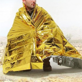 TaffSPORT Selimut Darurat Emergency Blanket Thermal Insulation - SL03-001 - Golden