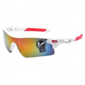 Kacamata Sepeda Lensa Mercury - 009183 - White/Red
