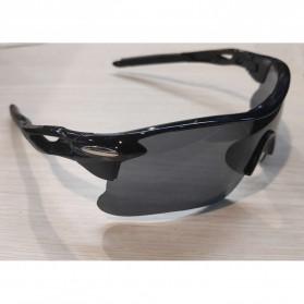 OULAIOU Kacamata Sepeda Lensa Mercury - 009183 - Black/Black - 6