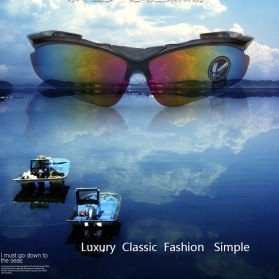 Kacamata Sepeda Lensa Mercury - 0091 - Black Gold - 3