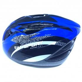 TaffSPORT Helm Sepeda EPS Foam PVC - x31 - Black/Blue - 2