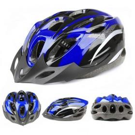 TaffSPORT Helm Sepeda EPS Foam PVC - x31 - Black/Blue - 3
