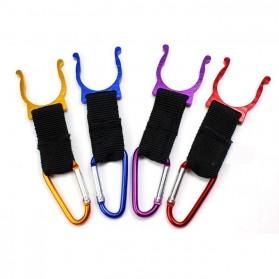 Holder Mineral Bottle Buckle Keychain / Pengait Botol Minum - 5X - Multi-Color - 7
