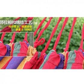 Folding Outdoor Hammock 180 x 100 cm / Tempat Tidur Gantung - Blue - 2