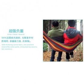 Folding Outdoor Hammock 180 x 100 cm / Tempat Tidur Gantung - Blue - 3