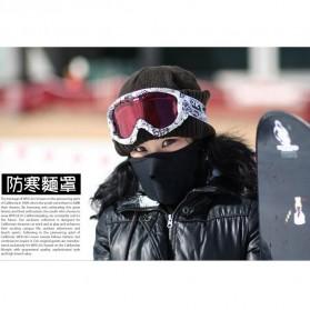 Masker Ski Setengah Wajah - Black - 4