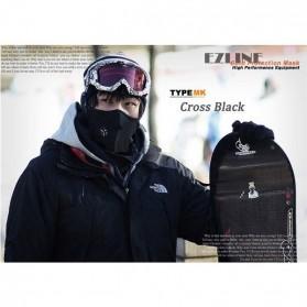 Masker Ski Setengah Wajah - Black - 5