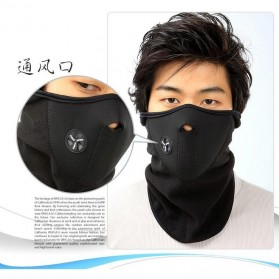 Masker Ski Setengah Wajah - Black - 7