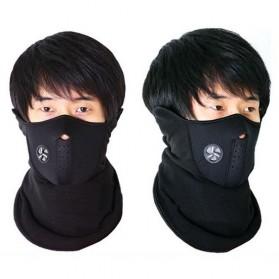Masker Ski Setengah Wajah - Black - 8
