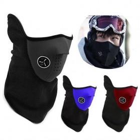 Masker Ski Setengah Wajah - Black - 9