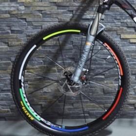 Bicycle Wheel Reflective Sticker / Stiker Roda Sepeda 8 Strip - A-0001 - Green - 3