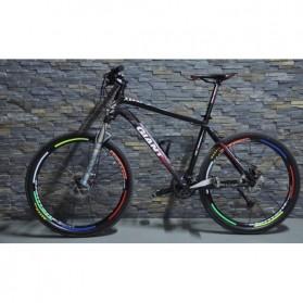 Bicycle Wheel Reflective Sticker / Stiker Roda Sepeda 8 Strip - A-0001 - Green - 4