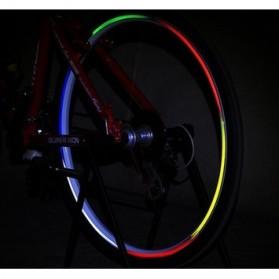 Bicycle Wheel Reflective Sticker / Stiker Roda Sepeda 8 Strip - A-0001 - Green - 5