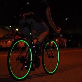 Bicycle Wheel Reflective Sticker / Stiker Roda Sepeda 8 Strip - A-0001 - Green - 6