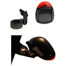 Solar Bicyle Taillight Warning Light / Lampu Rambu Sepeda - 909 - Black - 3