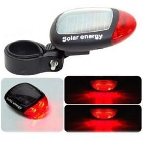 Solar Bicyle Taillight Warning Light / Lampu Rambu Sepeda - 909 - Black - 4