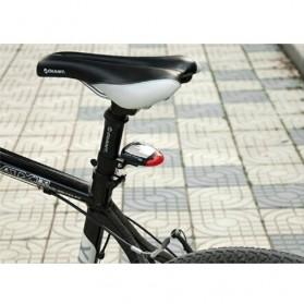 Solar Bicyle Taillight Warning Light / Lampu Rambu Sepeda - 909 - Black - 6