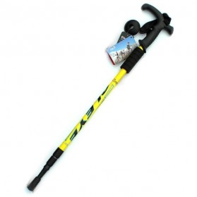 Aluminium Alloy Alpenstocks Paint Three Climbing Tool / Alat Mendaki - Yellow
