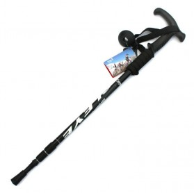 Aluminium Alloy Alpenstocks Paint Three Climbing Tool / Alat Mendaki - Black
