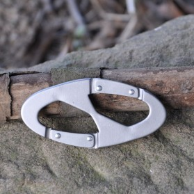 Carabiner Mountaineering 8 Shaped - L301218 - Silver - 3
