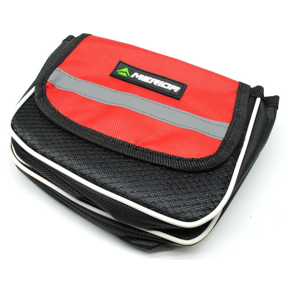 Merida Tas Perlengkapan Sepeda Black Red Roswheel Sadel Waterproof With Backlight Lampu Rem Malam 2