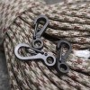 Mini Spring Keychain Hanging Buckle Quickly Key Ring Carabiner / Alat Bantu Tali - Black