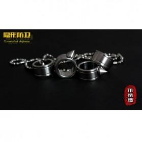 Outdoor Self Defense Knuckle Ring Weapon / Cincin Bela Diri - Silver
