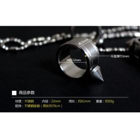 Outdoor Self Defense Knuckle Ring Weapon / Cincin Bela Diri - Silver - 2