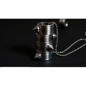Outdoor Self Defense Knuckle Ring Weapon / Cincin Bela Diri - Silver - 4