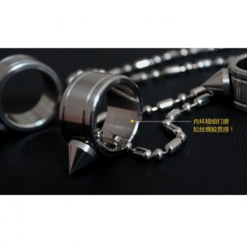 Outdoor Self Defense Knuckle Ring Weapon / Cincin Bela Diri - Silver - 5