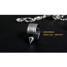 Outdoor Self Defense Knuckle Ring Weapon / Cincin Bela Diri - Silver - 8