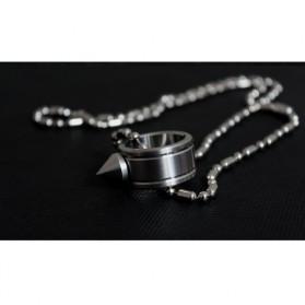 Outdoor Self Defense Knuckle Ring Weapon / Cincin Bela Diri - Silver - 10