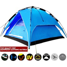 Tenda Camping Anti Wind Bunk Tent  - NH15Z006-P - Blue