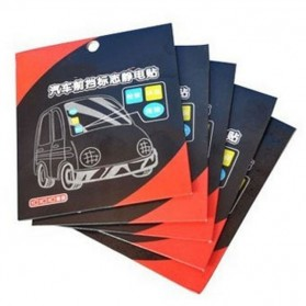 Automotive Electrostatic Stickers 3 PCS / Stiker Mobil - 2