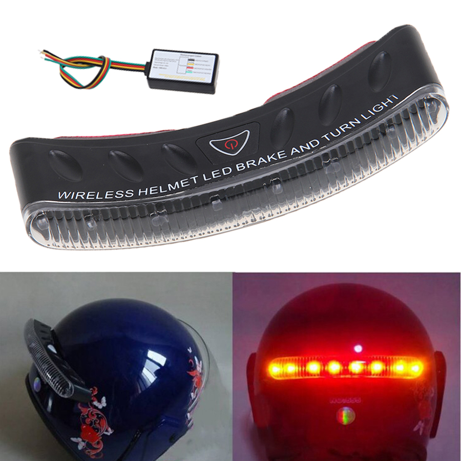 Wireless Motorcycle Helmet Indicator LED / Lampu Indikator