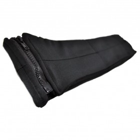 Waterproof Sports Belt with Single Pocket and Zipper - Small Size - Black - 2