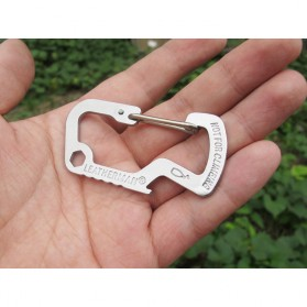 Versatile EDC Carabiner Stainless Steel with Bottle Opener - Silver - 10