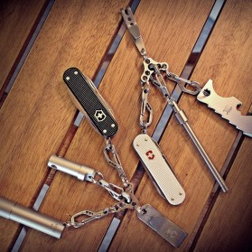 UFO Expand Suspension Clip Key Ring with Triangle Buckle - Silver - 5