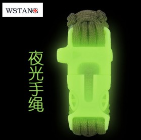 Luminous Survival Bracelet with Magnesium Flint Fire Starter - Green - 4