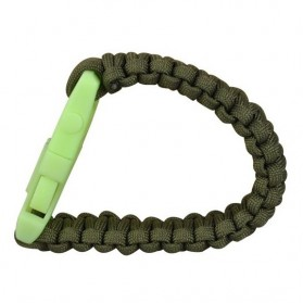 Luminous Survival Bracelet with Magnesium Flint Fire Starter - Green - 5