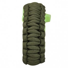 Luminous Survival Bracelet with Magnesium Flint Fire Starter - Green - 6