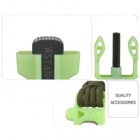 Luminous Survival Bracelet with Magnesium Flint Fire Starter - Green - 7