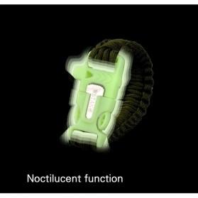 Luminous Survival Bracelet with Magnesium Flint Fire Starter - Green - 8
