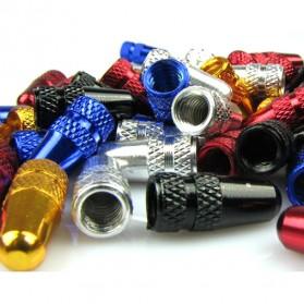 CNC Aluminium Bike Gas Nozzle Cap / Pentil Ban - Blue - 2