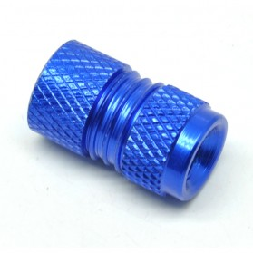 CNC Aluminium Bicycle Gas Nozzle Cap / Pentil Ban - Blue