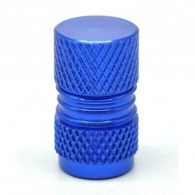CNC Aluminium Bicycle Gas Nozzle Cap / Pentil Ban - Blue - 3