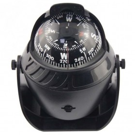 Kompas Ball Shaped Magnetic Compass Declanation Correction - LC760 - Black