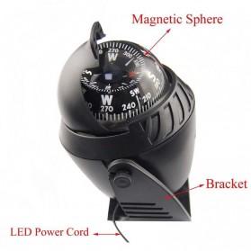 Kompas Ball Shaped Magnetic Compass Declanation Correction - LC760 - Black - 6