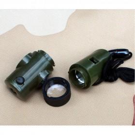 Peluit Survival Multifungsi Dengan Compass, Lampu LED & Pengukur Suhu - Army Green - 5